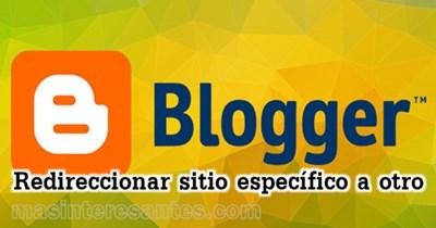 codigo script para redireccionar en blogger
