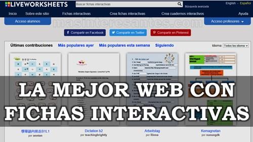 Web con fichas interactivas